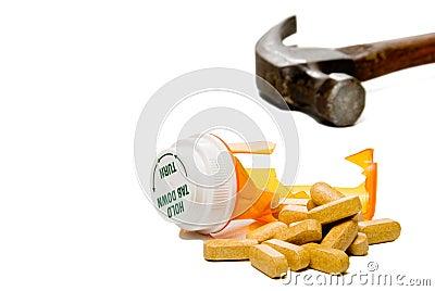 Smashed Pill Bottle