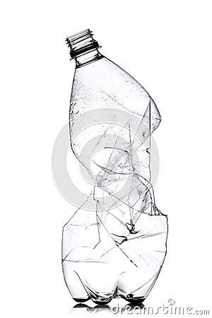 Free Smashed Plastic Bottle Stock Photography - 33971092