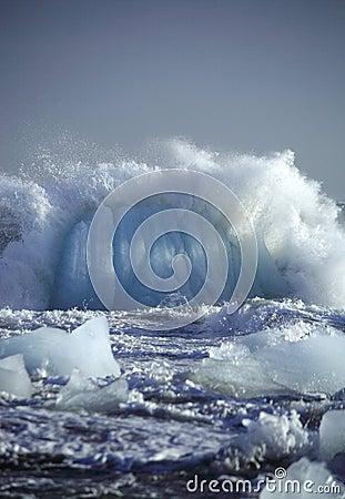 Smashing iceberg