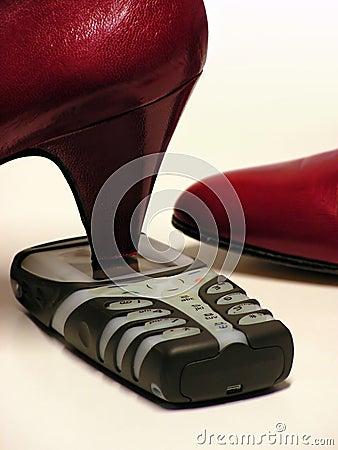 Free Smashing The Phone Royalty Free Stock Photos - 404818