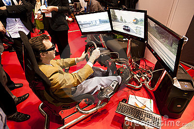 SMAU 2010 - 3d Gaming Editorial Stock Photo