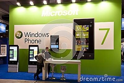 SMAU 2010 - Windows phone 7 Editorial Stock Photo