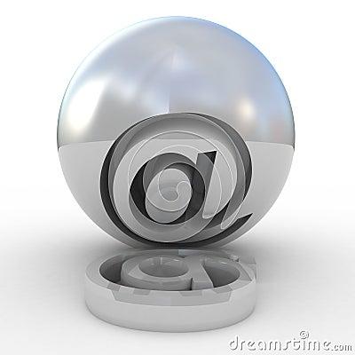 Símbolo 3D do email