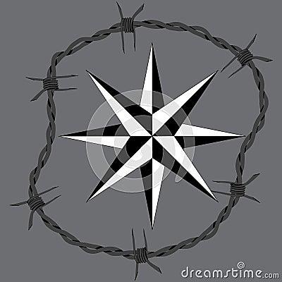 Círculo do arame farpado imagens de stock   imagem: 27896874
