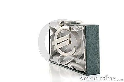 Símbolo de dinero en circulación euro