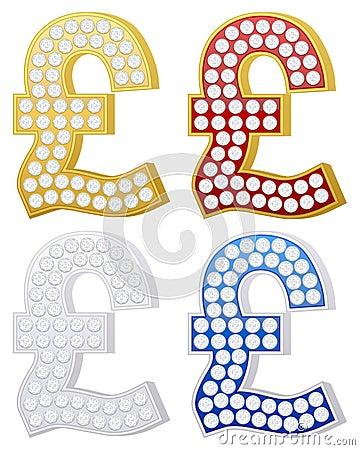Símbolo de la libra de la joyería