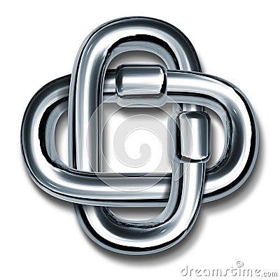 Símbolo de las conexiones de cadena de la fuerza y de la unidad