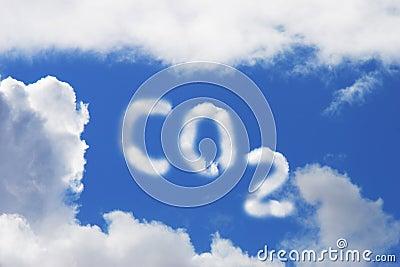 Símbolo del dióxido de carbono
