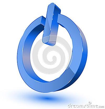 Símbolo encendido-apagado de la potencia