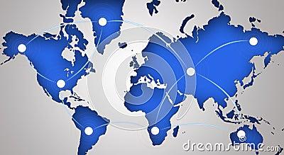 Símbolo global del establecimiento de una red