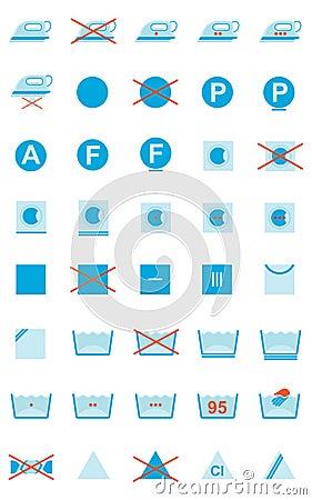 Símbolos del cuidado de la ropa