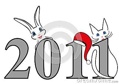 Símbolos do ano novo, ilustração do Natal