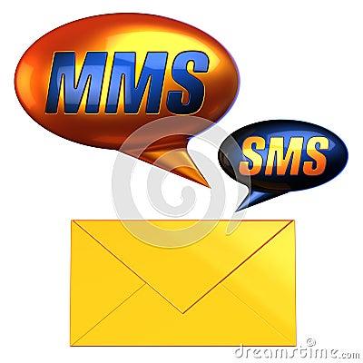 Símbolos do correio dos sms do Mms (alugueres)