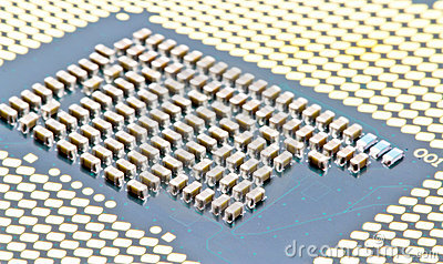 SMD components on bottom of the PC processor
