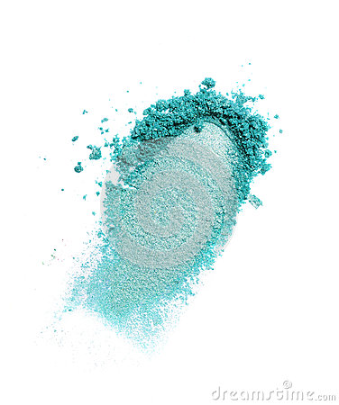 Free Smear Of Crushed Teal Eyeshadow As Sample Of Cosmetic Product Royalty Free Stock Image - 91263416
