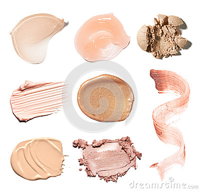 Free Smear Paint Of Cosmetic Products Royalty Free Stock Photo - 97446575