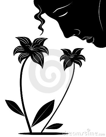 Smell The Flowers  Clipart Image