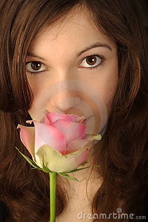 Free Smelling A Rose Royalty Free Stock Photos - 4379998