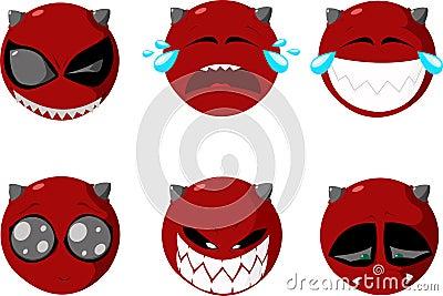 Set of smiles Vector Illustration