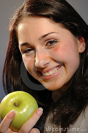 Smile with apple