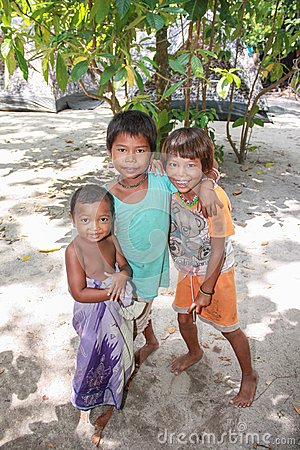 Smile of a child, Morgan tribe. Thailand Editorial Image