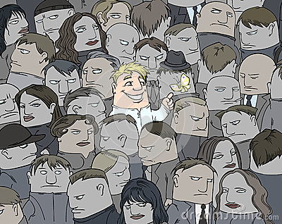 A smile in a crowd