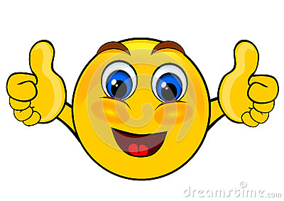 Smile emoticons thumbs up Stock Photo