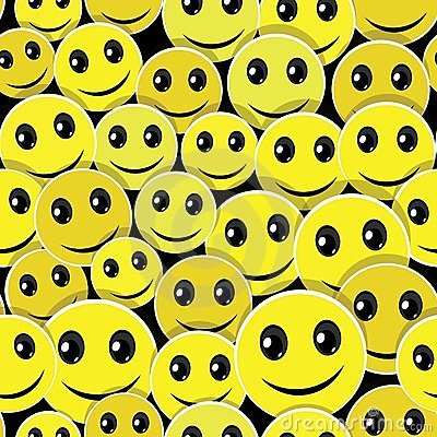 Smile face seamless pattern background
