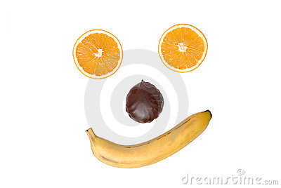 Smile from fruit and a zephyr
