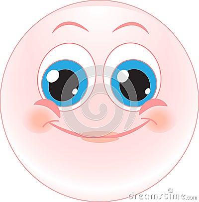 Smile happy. Emotions. icon