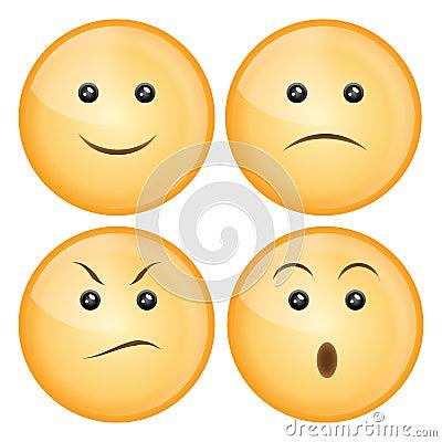 Free Smile Icon Set Stock Image - 13111681