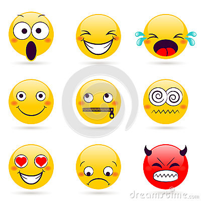 Different smiley faces