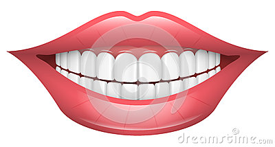 Smile, Lips, Mouth, Teeth Vector Illustration