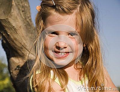 Smile of little girl