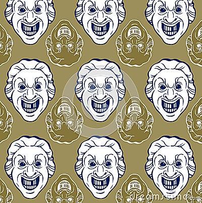 Smile man face pattern