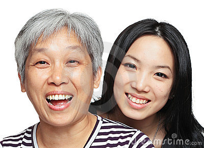 Smile mother and daughter
