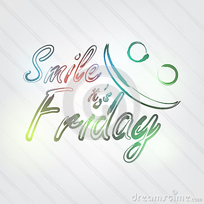 Smile it s Friday Typography