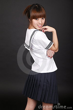 Smile schoolgirl.