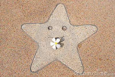 Smile star and  frangipani