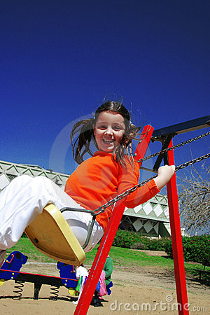 Smile in the swing