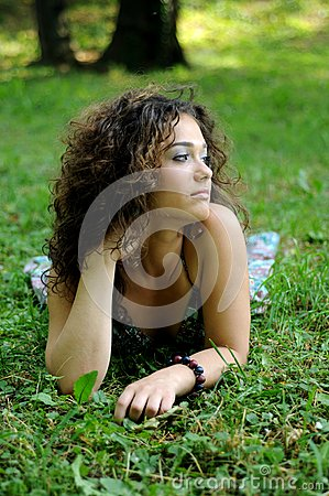 Smile teen standing on field