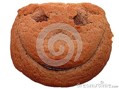 Smiley еды стороны печенья