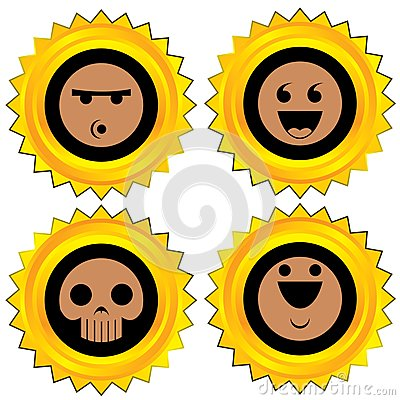 Smiley award icon set
