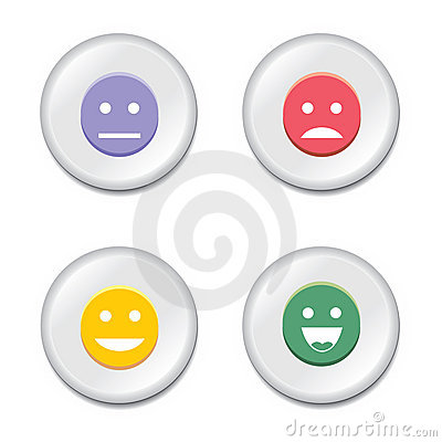 Smiley badge set