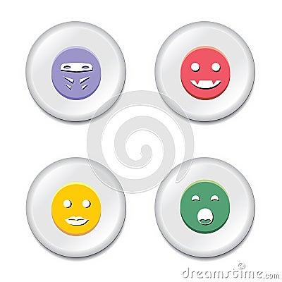 Smiley badge set