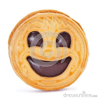 Smiley biscuit