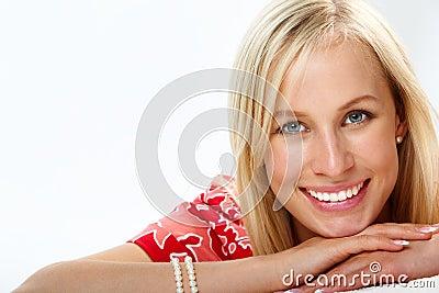 Smiley blond