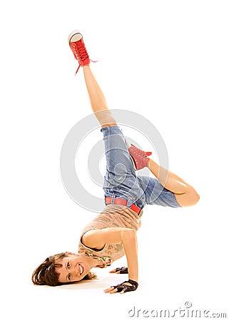 Smiley breakdancer im Frost