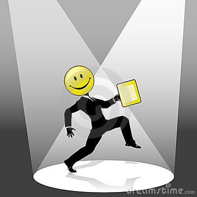 Smiley Business Person Dance