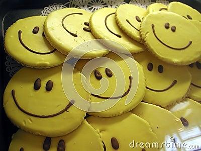 Smiley ciasteczka